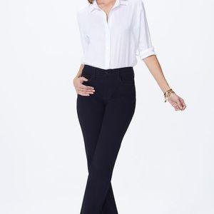 NYDJ Marilyn Straight Jeans - Black